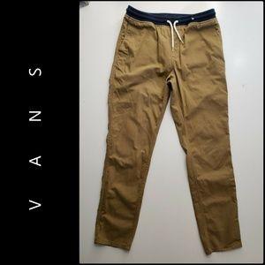 Vans Men Pull Up Drawstring Pants Size 32 Khaki